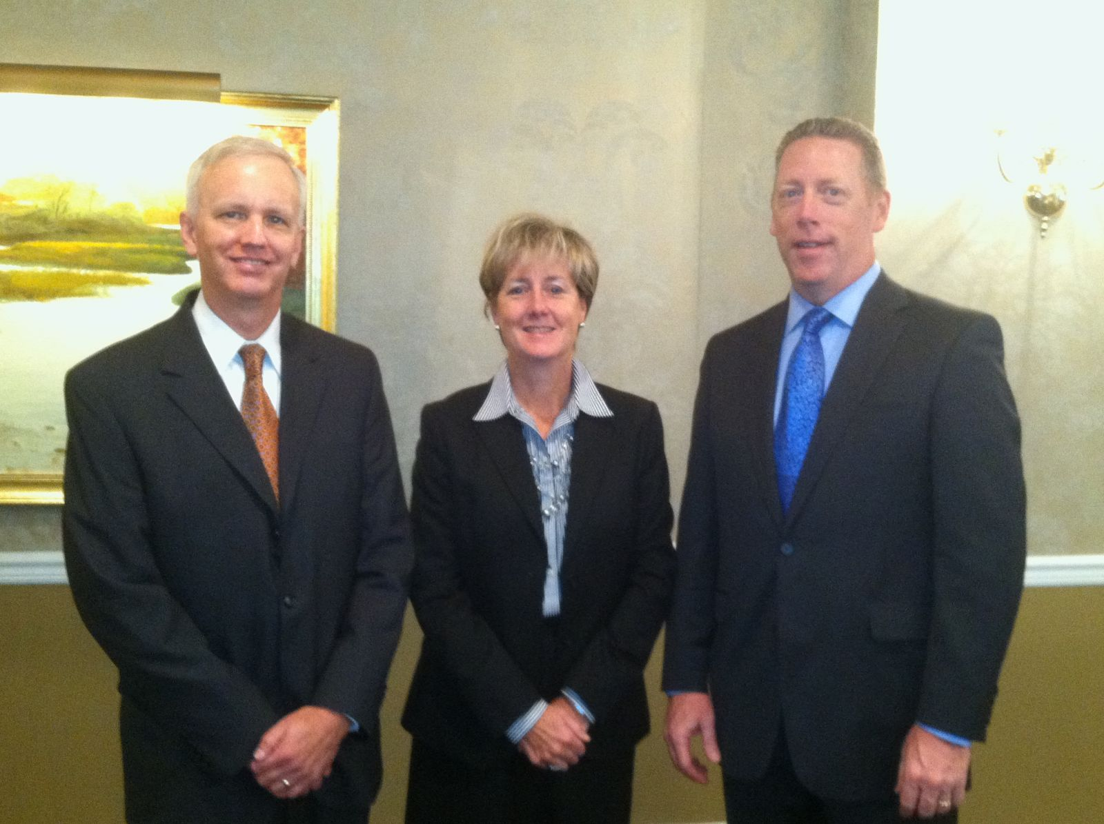 Pictured from left to right:  Mark J. Ryan, Deputy Director, Indpendent Fiscal Office; Susan M. Kirsch, Tax Shareholder, Schneider Downs; John R. Null, Audit and Assurance Shareholder, Schneider Downs
