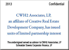 CWH2 Associates has issued units of limited partnership interest