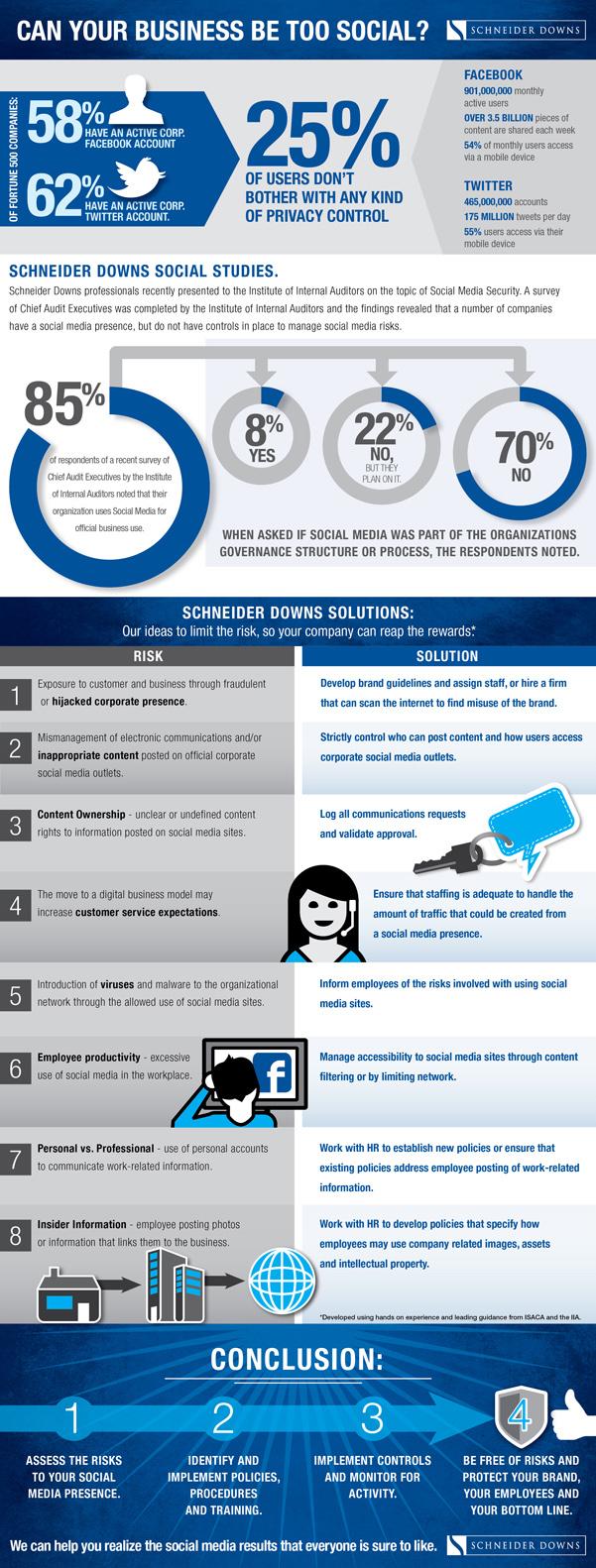 Social Media Risk Infographic