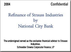 Refinance of Strauss Industries  by National City Bank